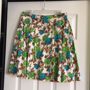 Milly Colorful A-Line Skirt, Size 8